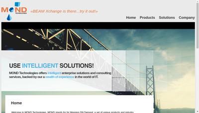 Site internet de Mond Technologies