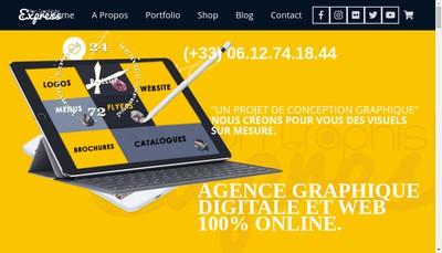 Site internet de Mon Graphiste Express