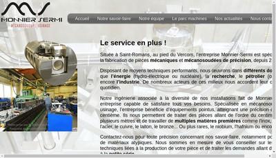 Site internet de Societe Nouvelle Monnier Sermi