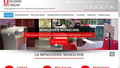 Site internet de Menuiserie Monschin