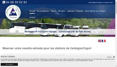 Site internet de SARL Montagne et Transport