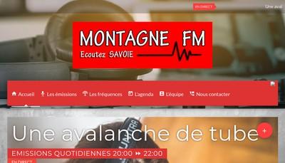 Site internet de Montagne Fm
