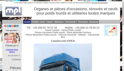 Site internet de Montoy Poids Lourds