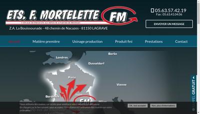 Site internet de Etablissements F Mortelette