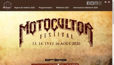 Site internet de Motocultor Fest Prod