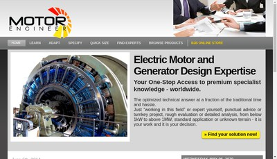 Site internet de SARL Motor Engineer