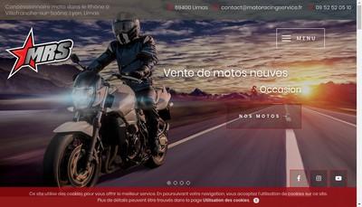 Site internet de Moto Racing Service