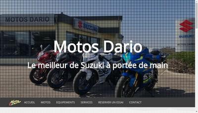 Site internet de Motos Dario