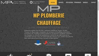 Site internet de Mp Plomberie Chauffage