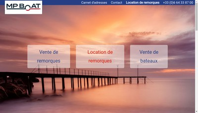 Site internet de Mp Boat