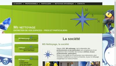 Site internet de MS Nettoyage