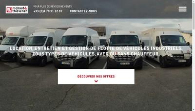 Site internet de Mollard et Thievenaz Location
