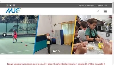 Site internet de Montpellier Universite Club Vacances