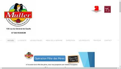 Site internet de Charcuterie Muller SA