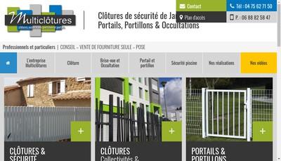 Site internet de SARL Multiclotures