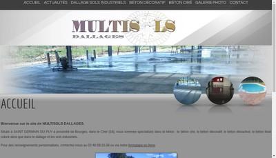 Site internet de Multisols Dallages