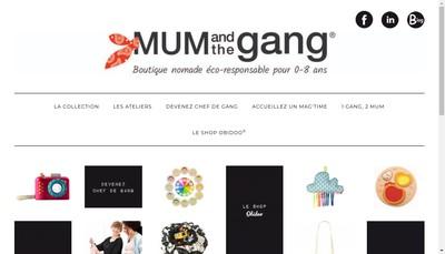 Site internet de Mum And The Gang MAG