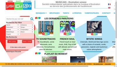 Site internet de Music Jag