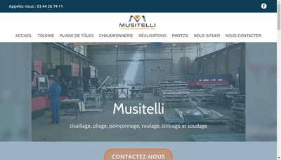 Site internet de Musitelli Sn
