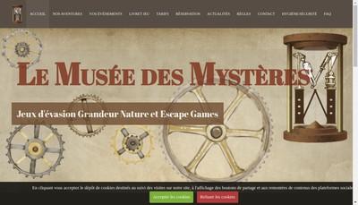 Site internet de Le Musee des Mysteres