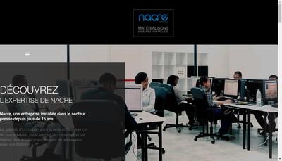 Site internet de Nacre Solutions