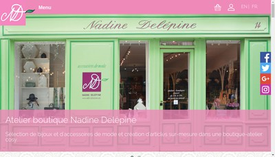 Site internet de Nadine Delepine SARL