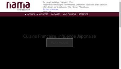Site internet de Nama