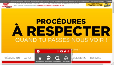Site internet de Nantes Moto