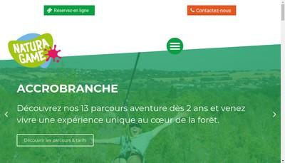 Site internet de Natura Game