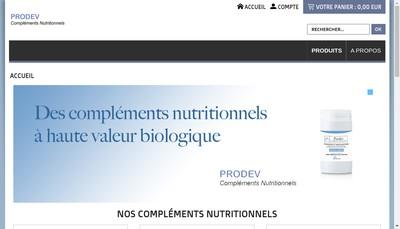 Site internet de Prodev