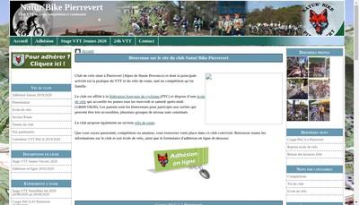 Site internet de Natur'Bike Pierrevert
