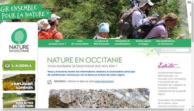 Site internet de Nature en Occitanie