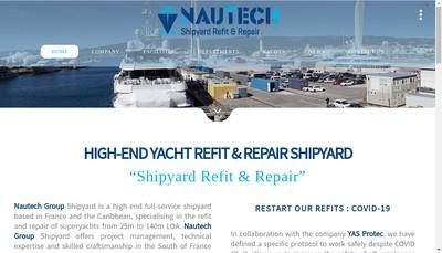 Site internet de Nautech(Nautical Technologies)