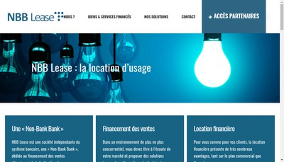 Site internet de Nbb Lease France 2