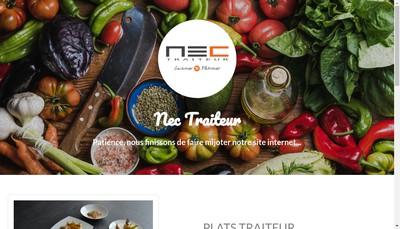 Site internet de Nec Traiteur