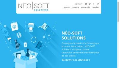 Site internet de Neo-Soft Solutions