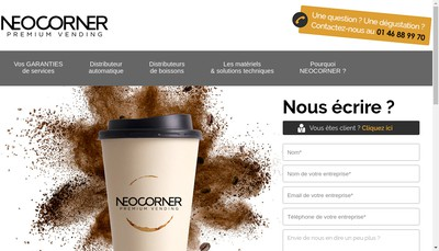 Site internet de Neocorner Snacking