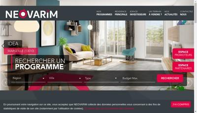 Site internet de Groupe Neovarim
