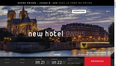 Site internet de New Hotel Opera