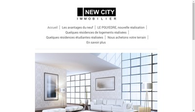 Site internet de New City Immobilier