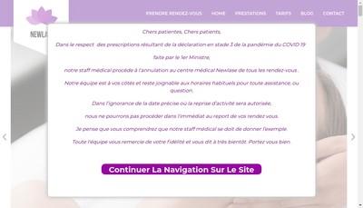 Site internet de New Lase