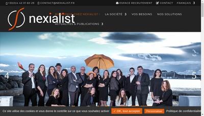 Site internet de Nexialist