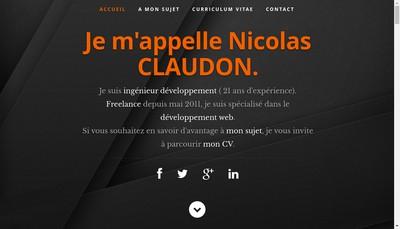 Site internet de Nicolas Claudon