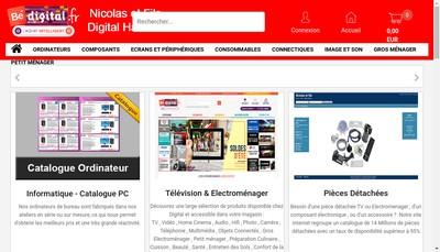 Site internet de Nicolas et Fils