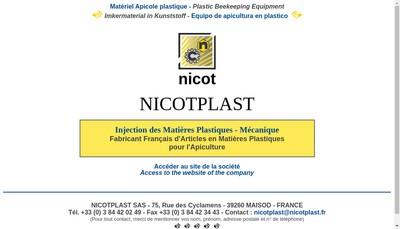 Site internet de Nicot