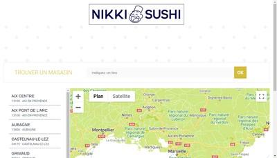 Site internet de Nikki Sushi Developpement