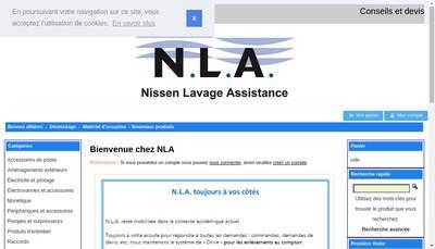 Site internet de Nissen Lavage Assistance