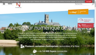Site internet de Nivertel