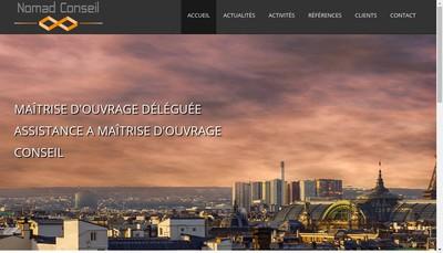Site internet de Nomad Conseil