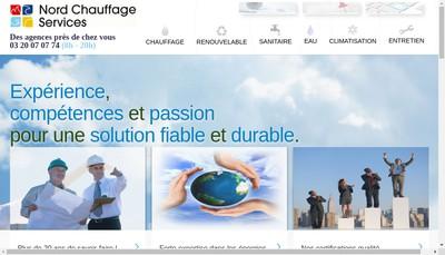 Site internet de Nord Chauffage Services Arras